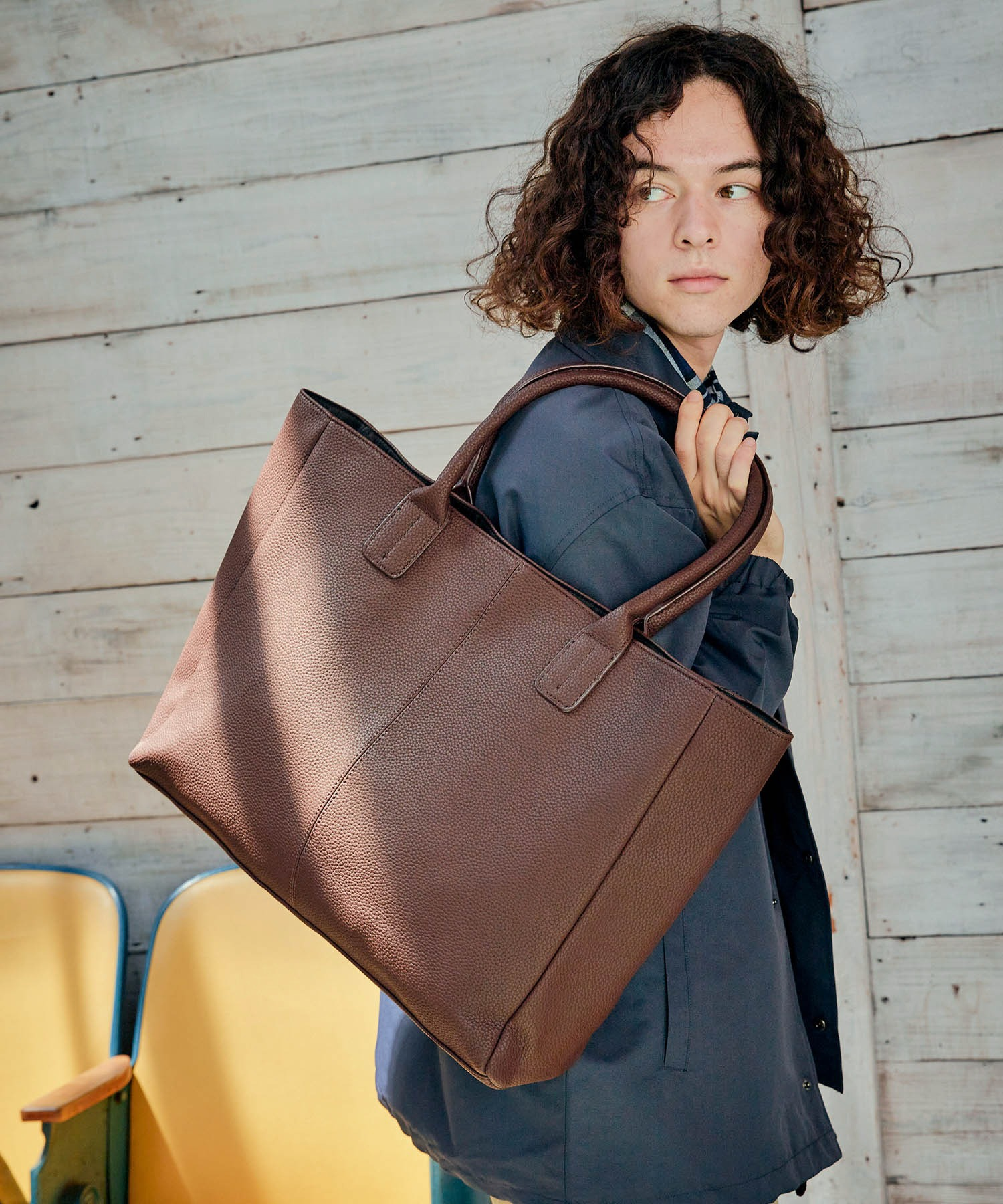Neo PU leather Tote Bag / ビッグ トートバッグ