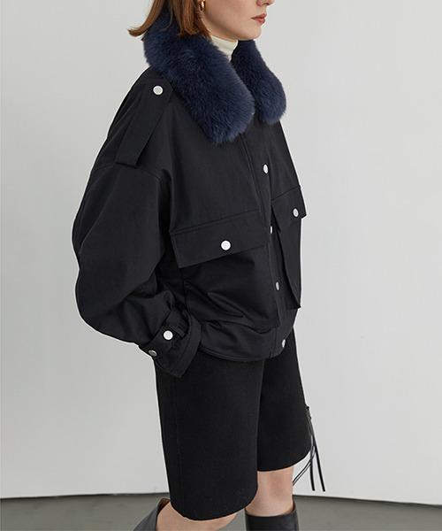 【Fano Studios】【2021AW】Fox fur short military jacket FD20W172