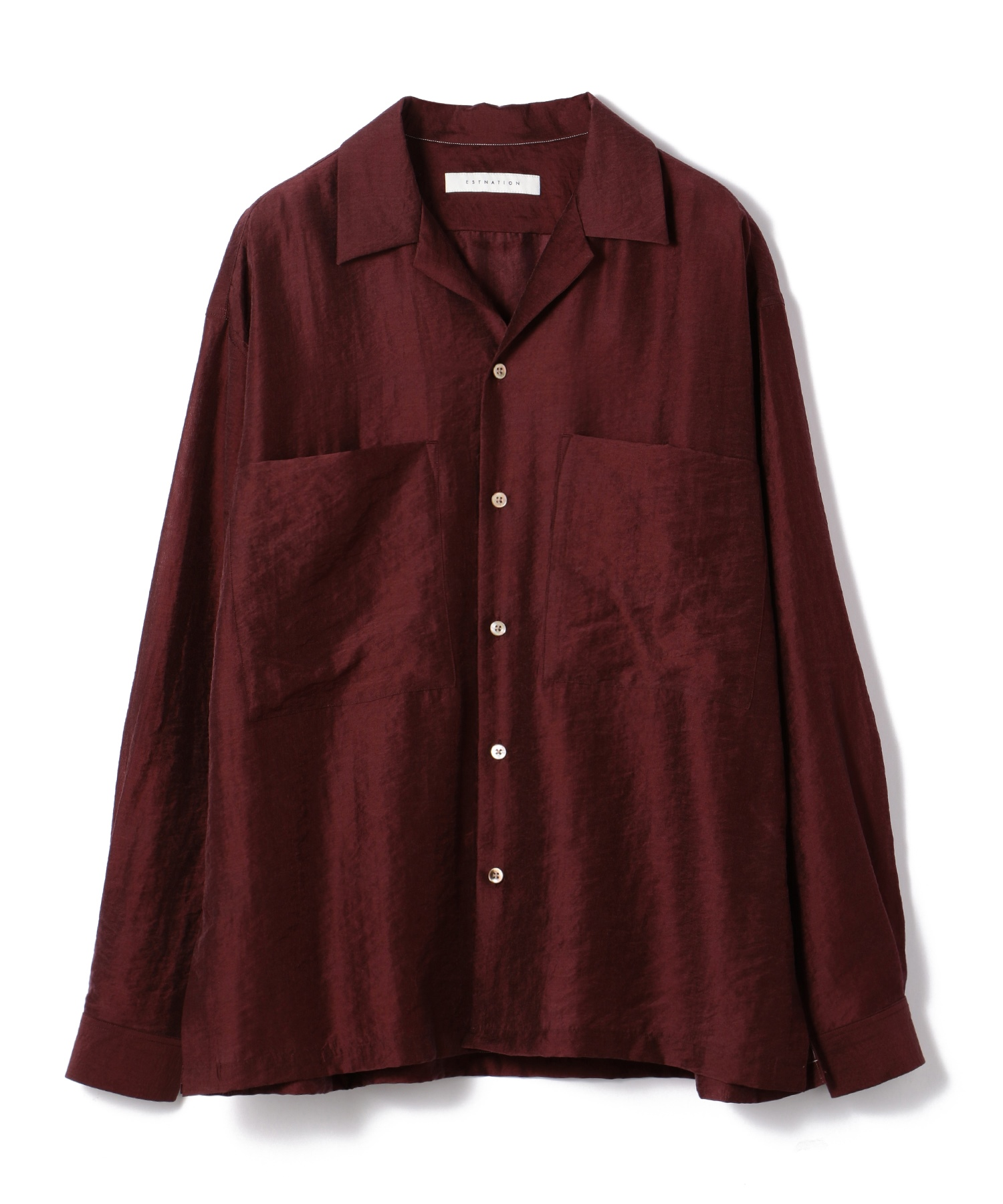 ESTNATION / オープンカラーロングスリーブシャツ