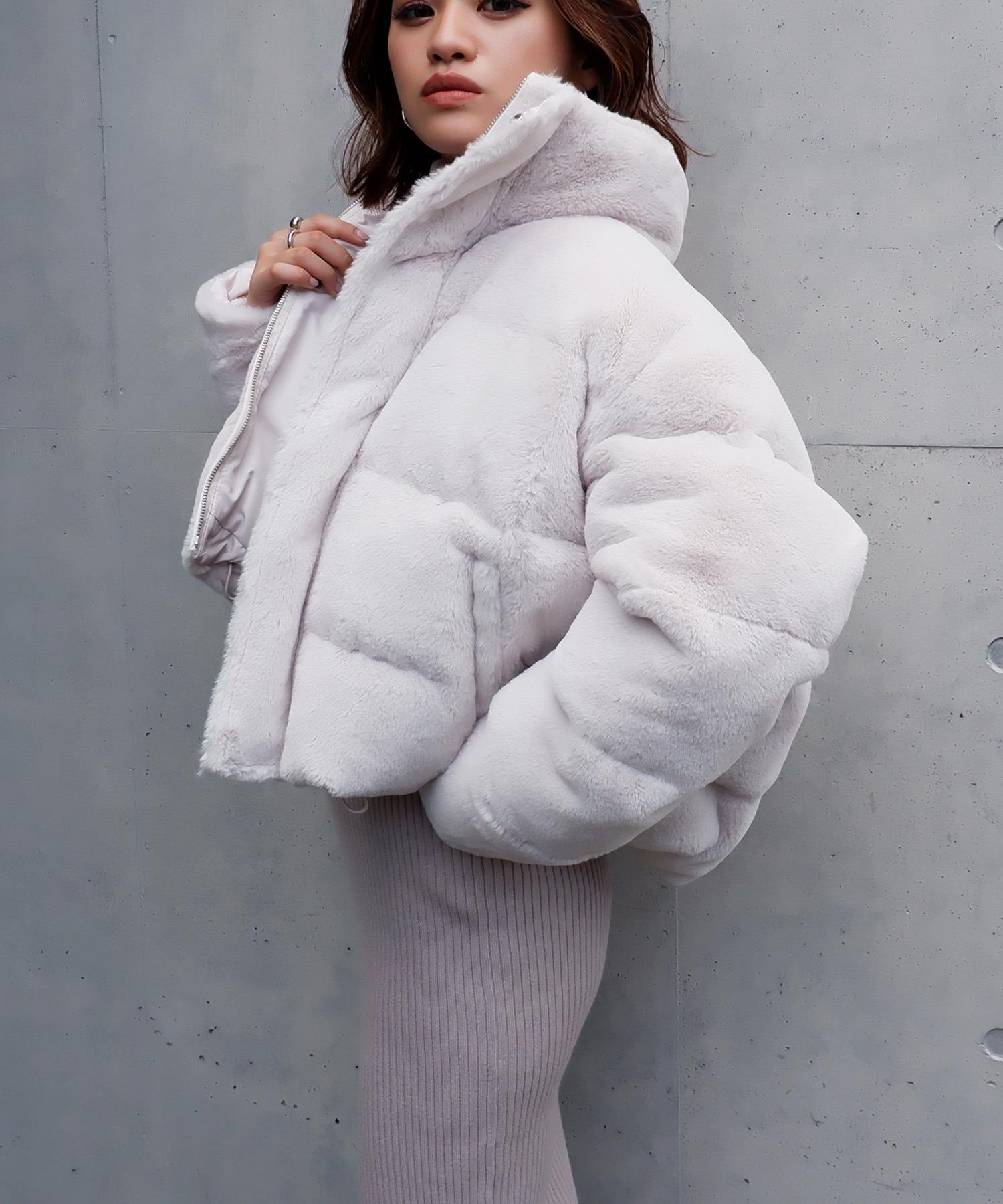エコファー中綿ショートジャケット