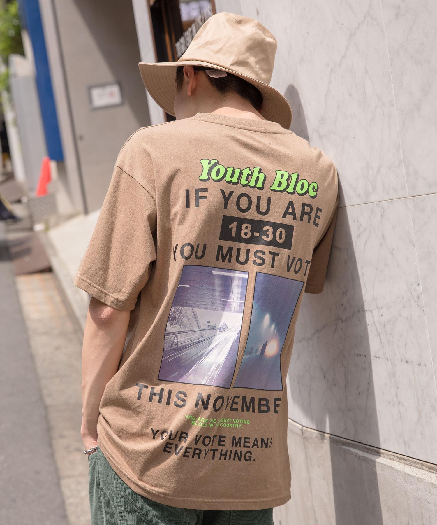 【BASQUE -enthusiastic design-】ビッグシルエット バック フォト転写プリント 半袖 カットソー