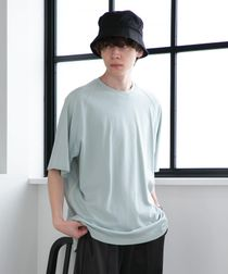 【WEB限定】FEELING MADE  ハイツイストコットン ラグランスリーブ Tシャツ(UVカット)