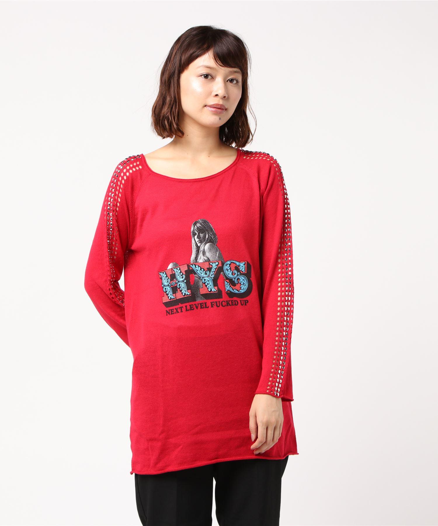 NEXT LEVEL透かし編みプルオーバー