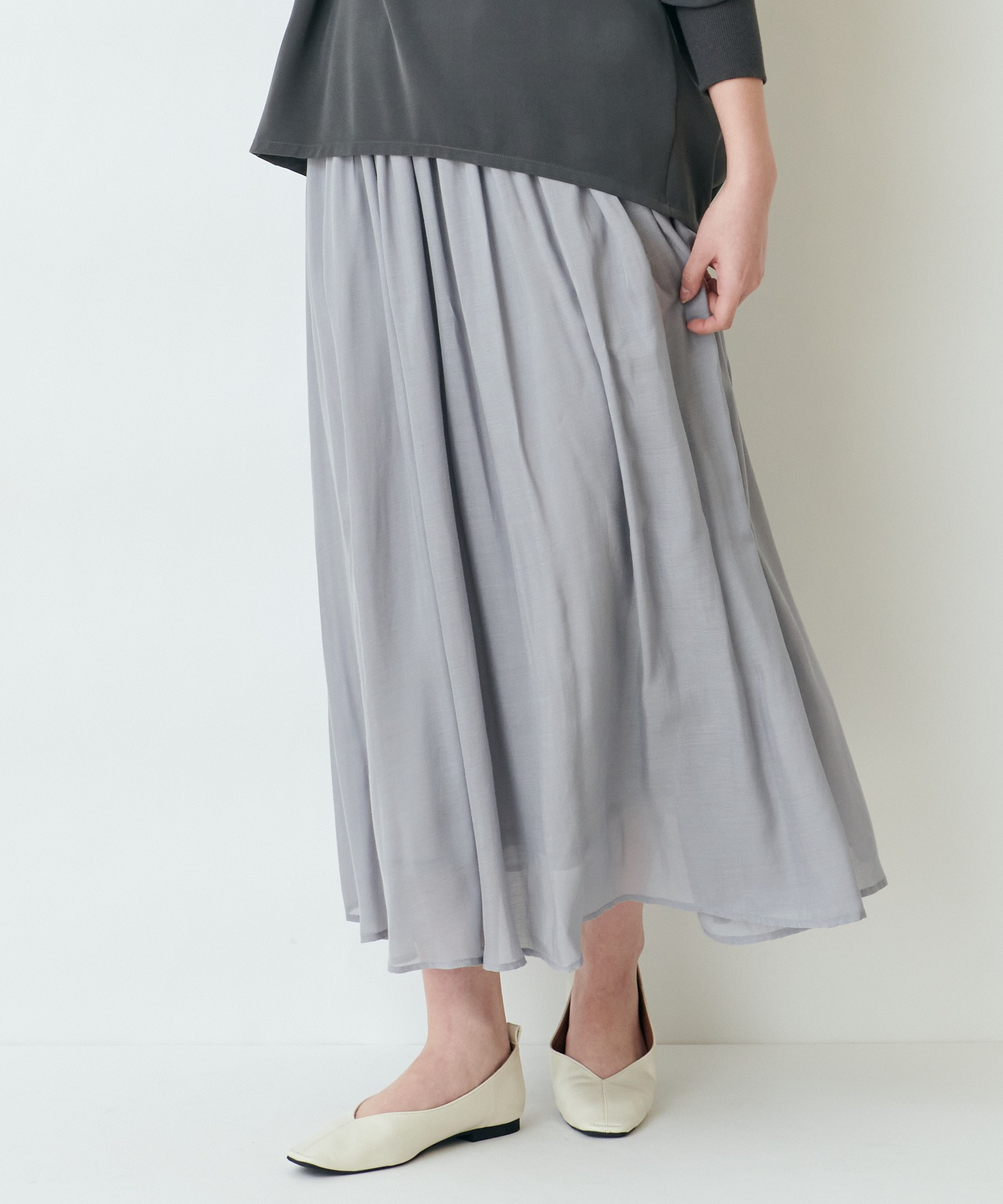 【THE CHIC】レーヨンマキシスカート