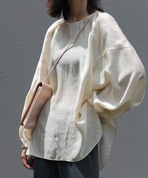 【chuclla】Tack design sheer volume blouse sb-5 chw1036