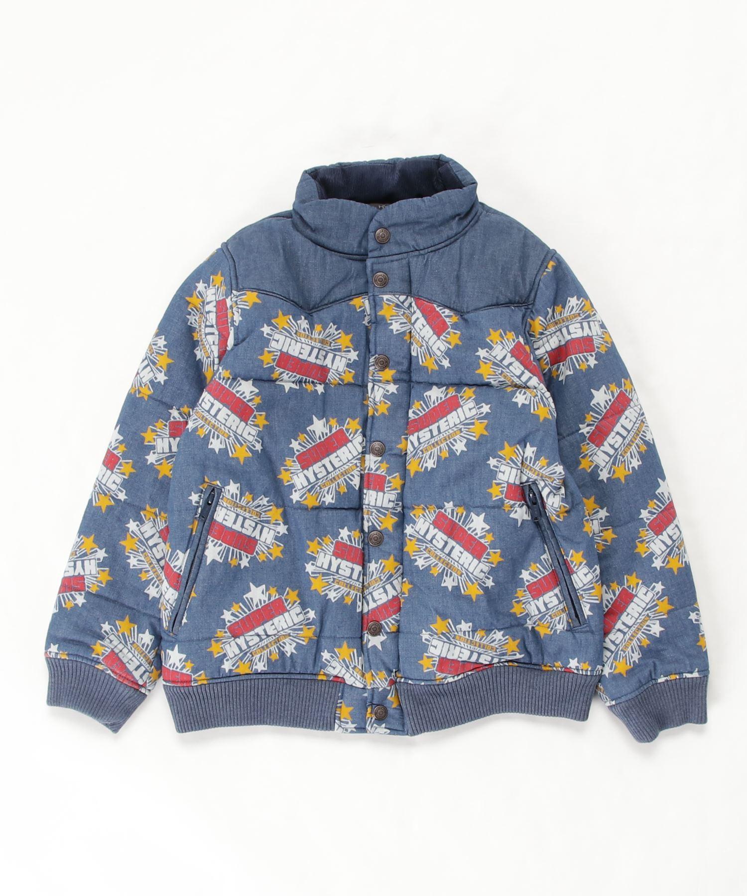 SUPER HYSTERIC柄 デニムスキニージャケット【L】