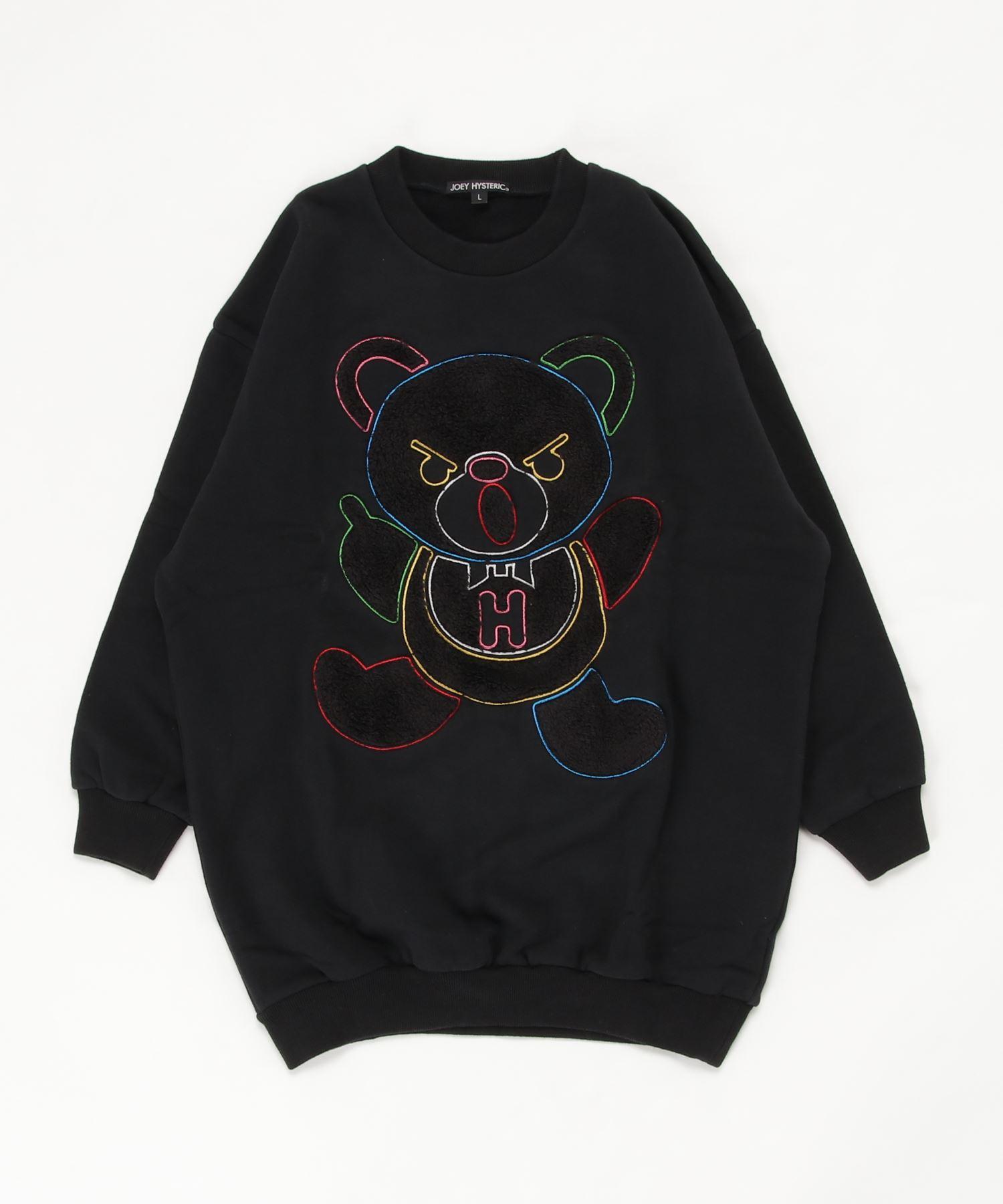 HYS BEAR刺繍 スウェット【L】