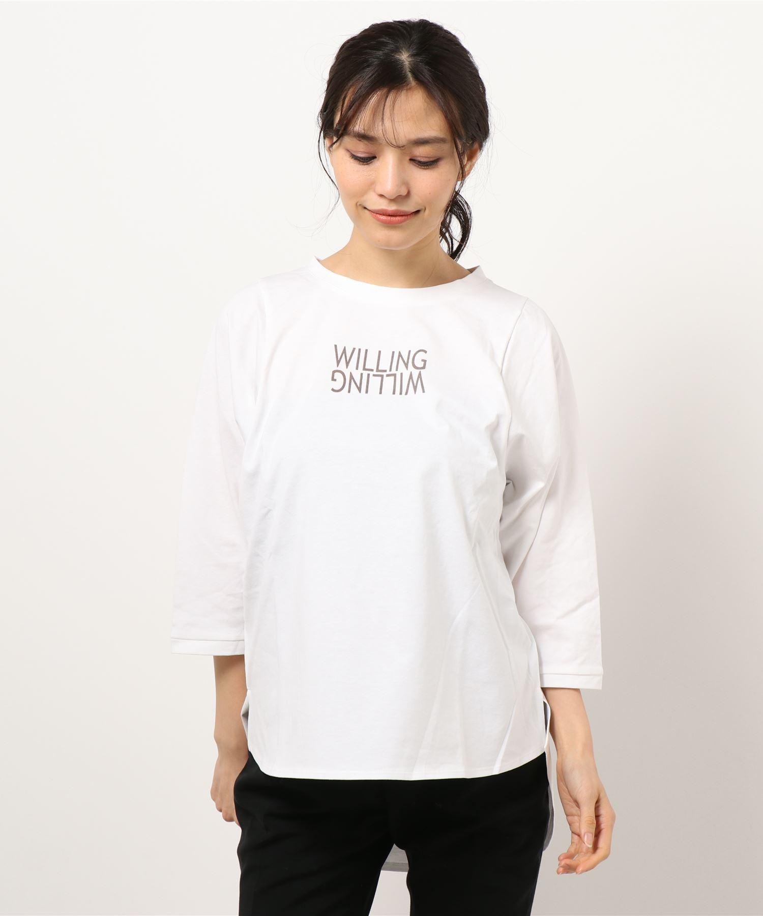 【THE CHIC】オーガニックコットンロゴヘムTシャツ