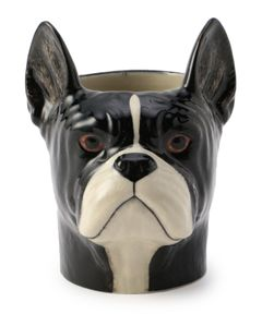 "QUAIL CERAMICS / ""FRENCH BULLDOG PENCIL POT"" 鉛筆立て"