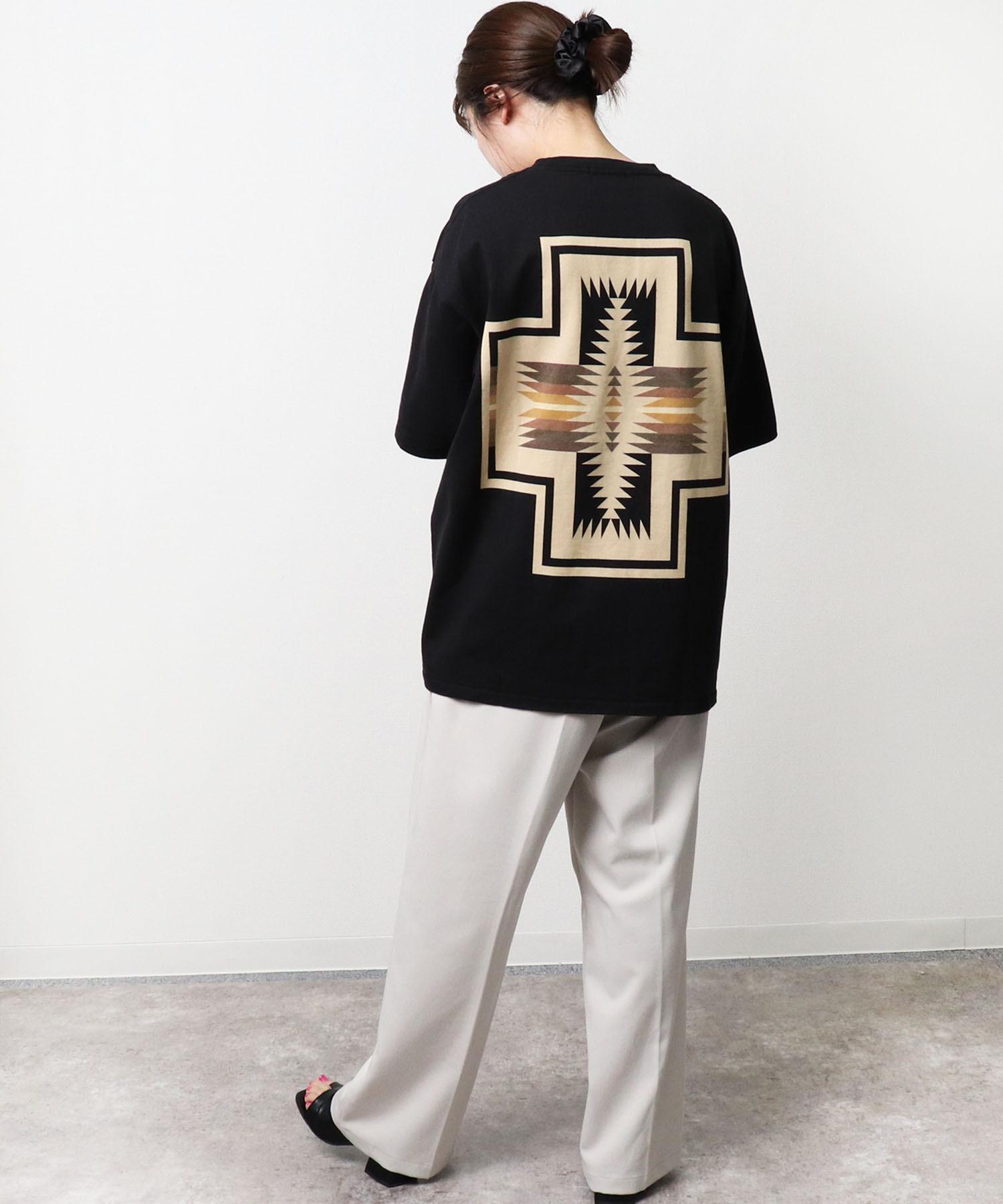 GO OUT 2021年 5月号p.56掲載 【 PENDLETON / ペンドルトン 】 PENDLETON UNISEX Back Print Tee / バックプリント ポケット半袖 Tシャツ ポケT