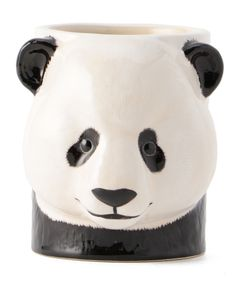 "QUAIL CERAMICS / ""PANDA PENCIL POT"" 鉛筆立て"