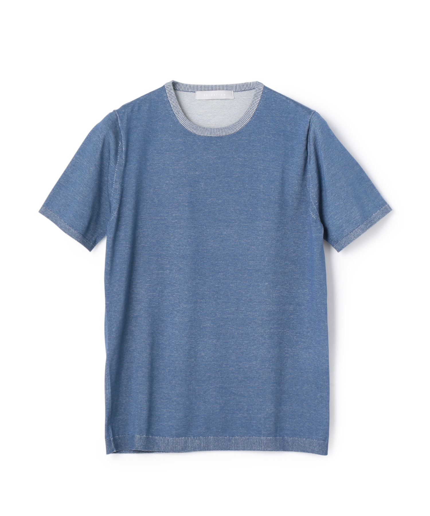 ESTNATION / ウォッシャブル半袖ニットTシャツ