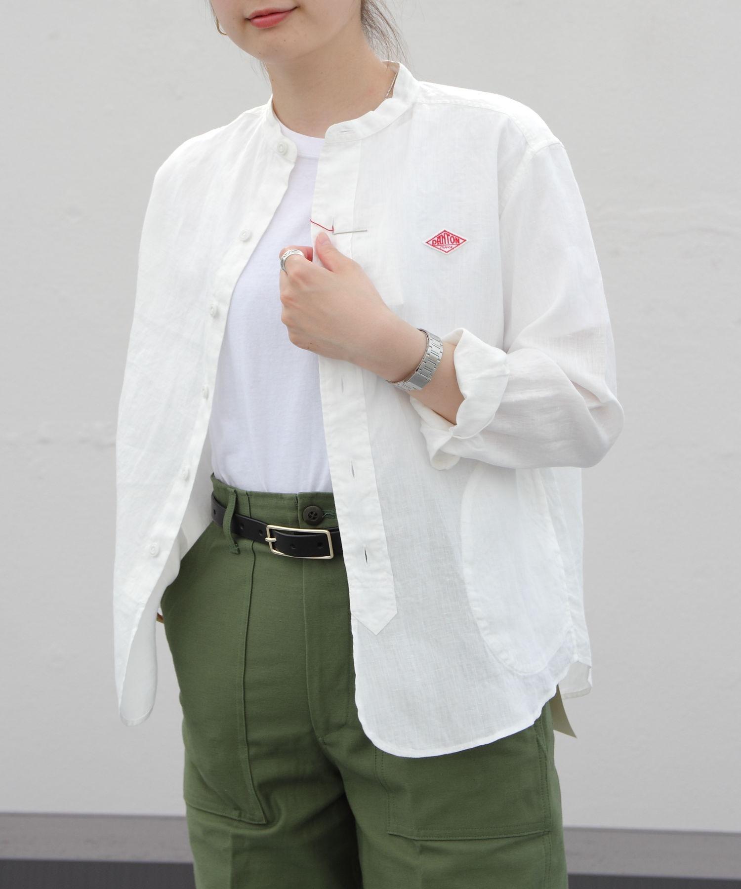 DANTON/ダントン リネンスタンドシャツ LINEN STAND SHIRTS JD-3606KLS(ウィメンズ)