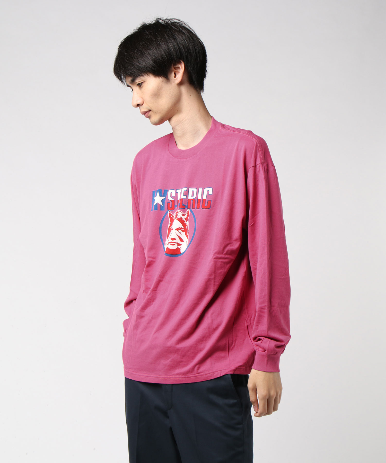 EVIL STAR リブ付ロングスリーブTシャツ