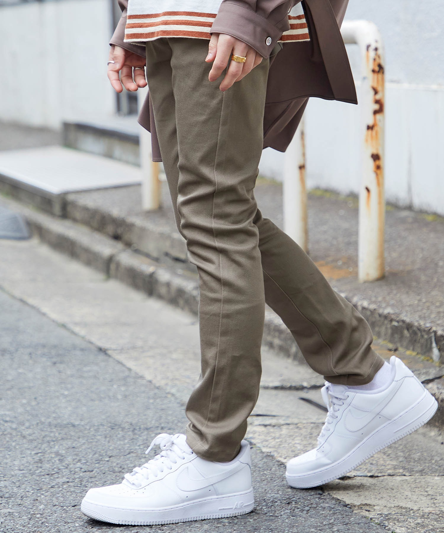 カツラギ素材 スキニー ストレッチ パンツ(MONO-MART)