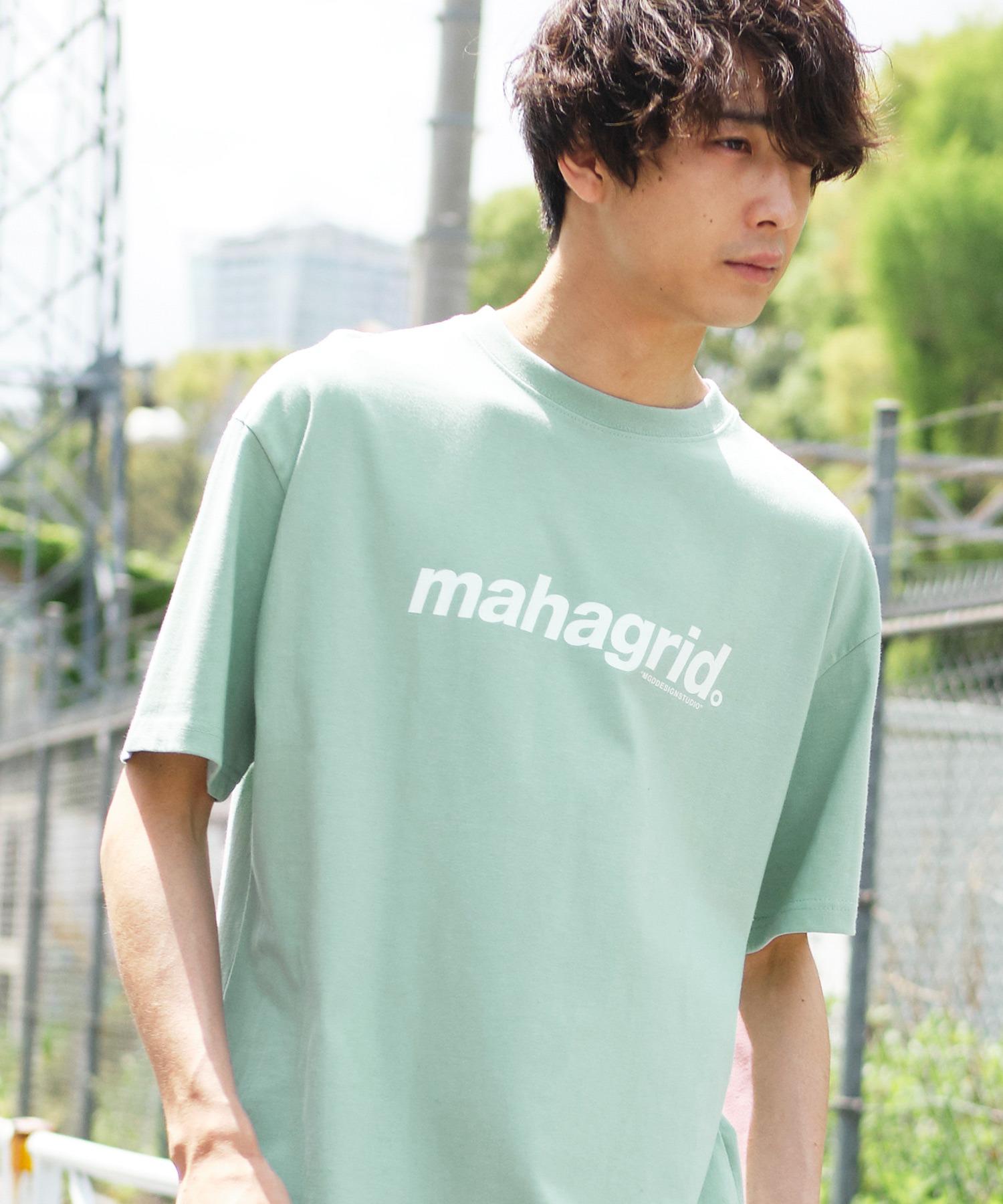 MAHAGRID/マハグリッド THIRD LOGO/BASIC LOGO  ロゴプリントオーバーサイズ半袖カットソー