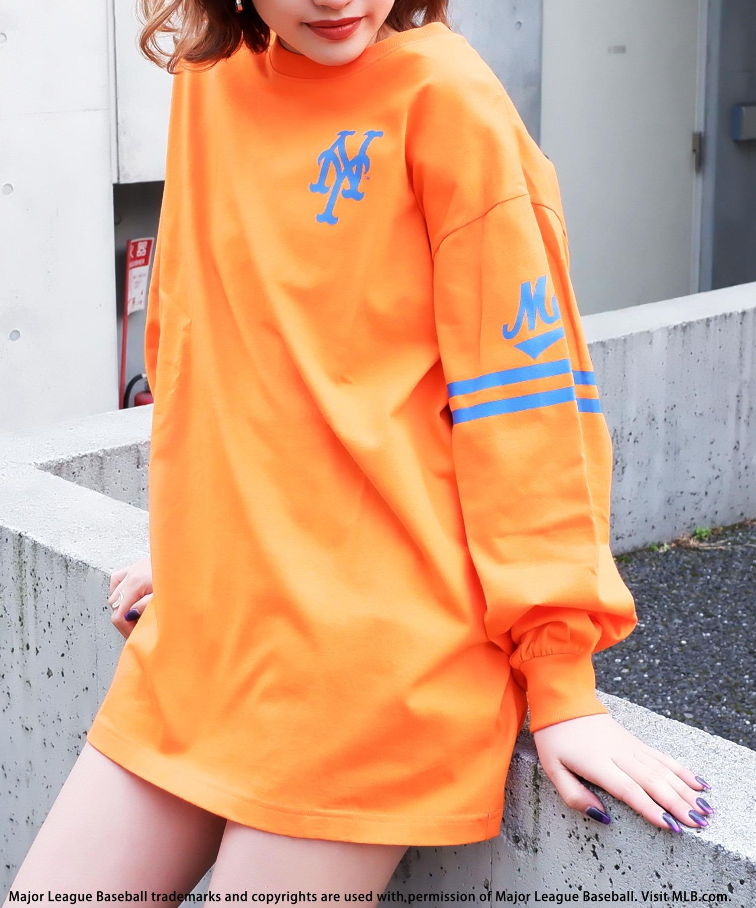 【MLB】スリーブロゴBIGシルエットTシャツ