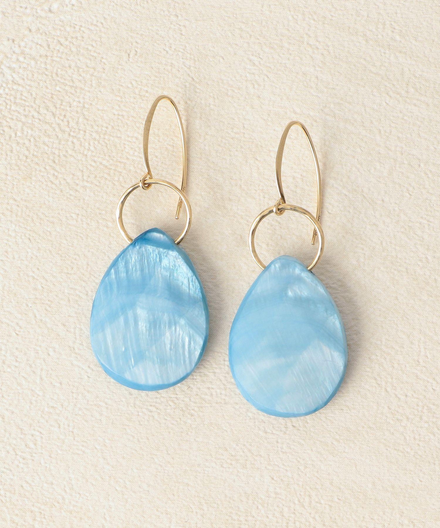 K10両耳用藍染めシェルピアス