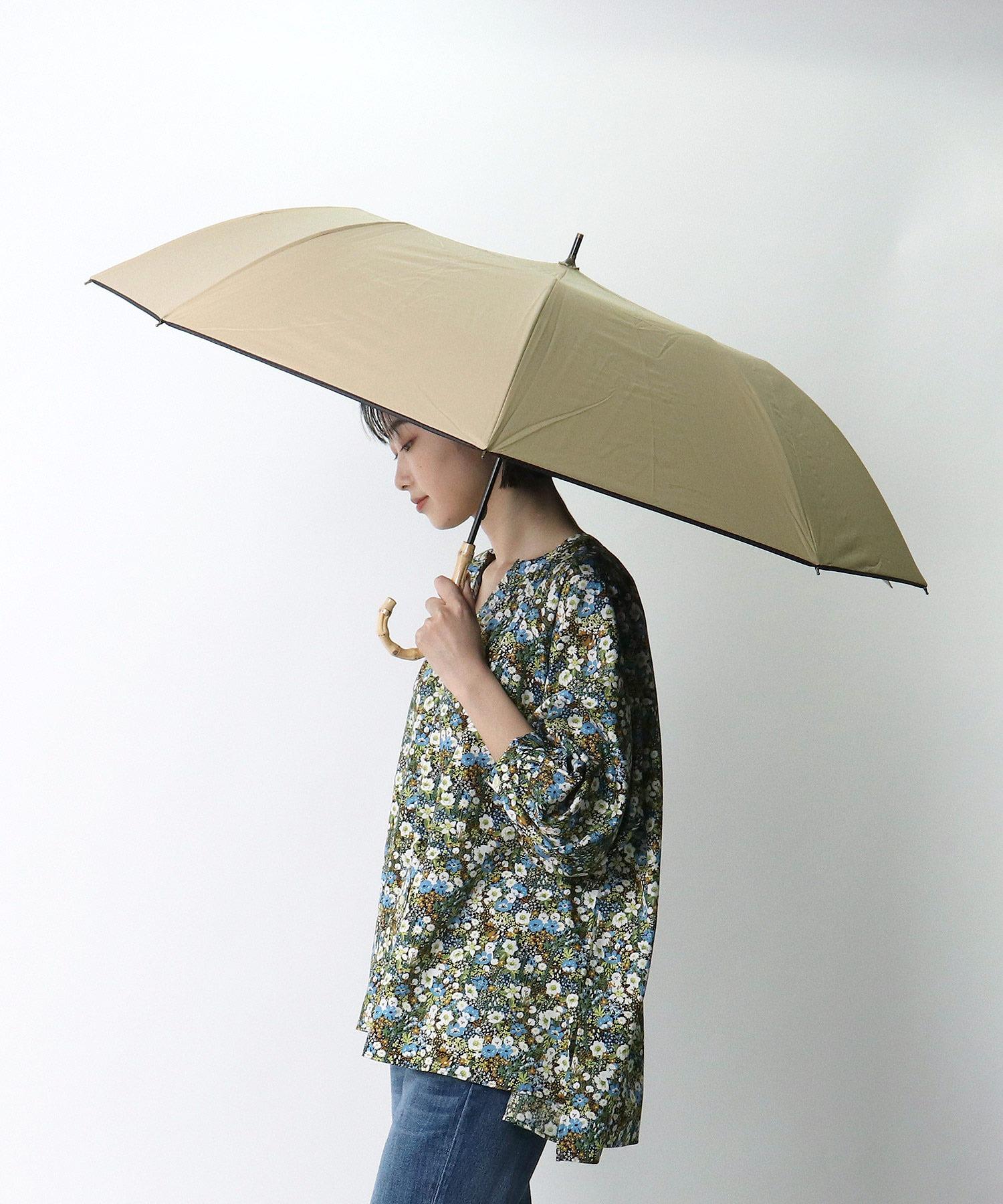 C/Cムジ裾パイピングショートワイド傘 27371