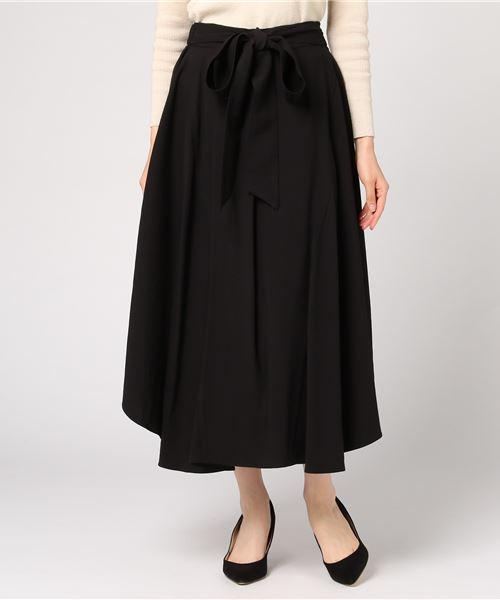 【SUGAR ROSE】ベルト付きフレアスカート