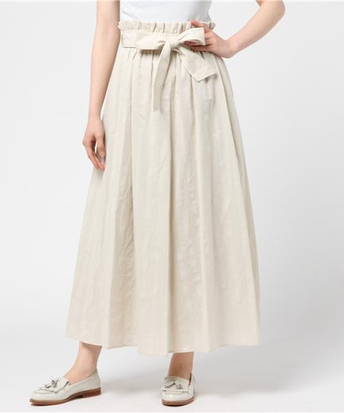 共布ベルト付きギャザースカート