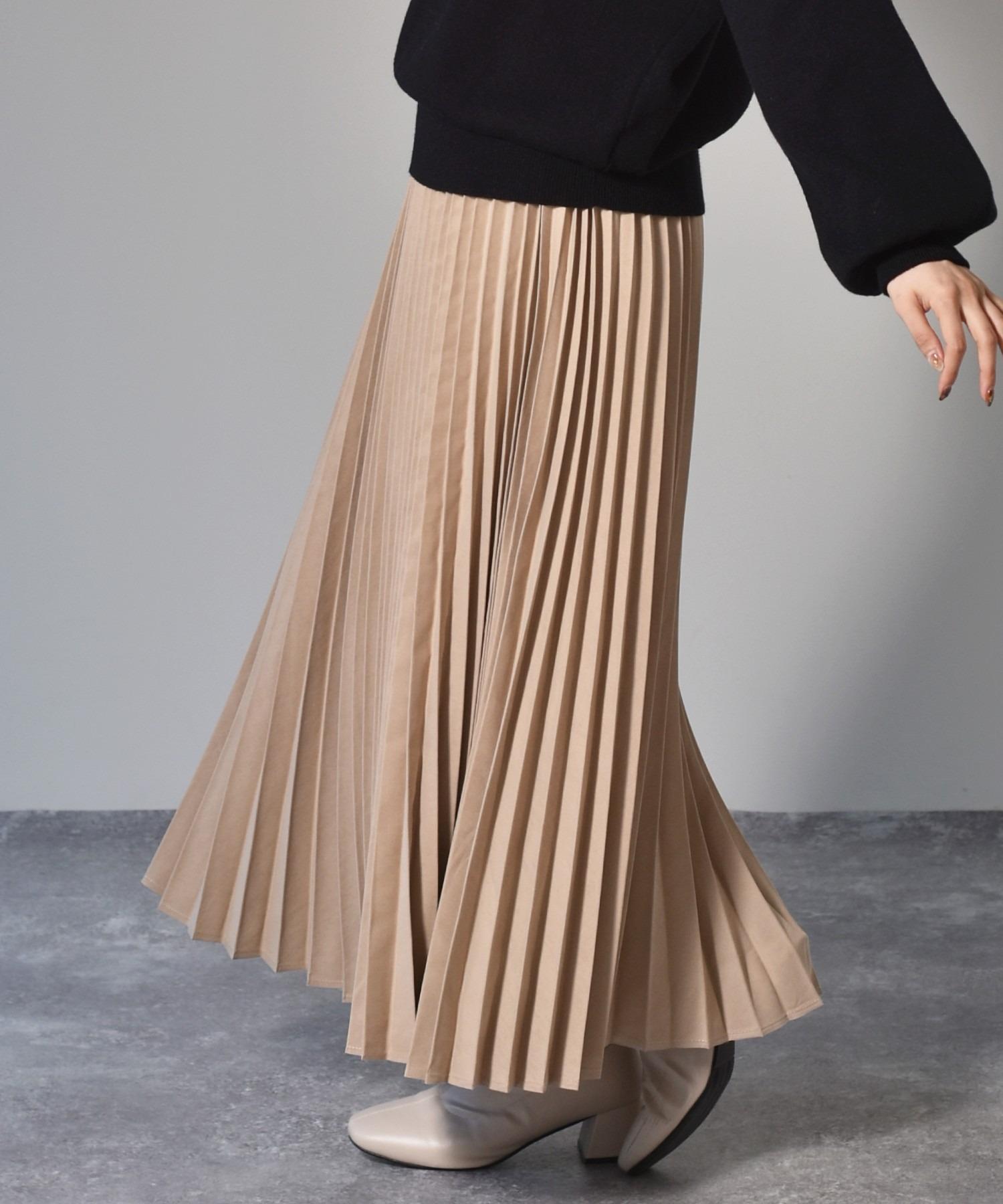 ピーチプリーツスカート