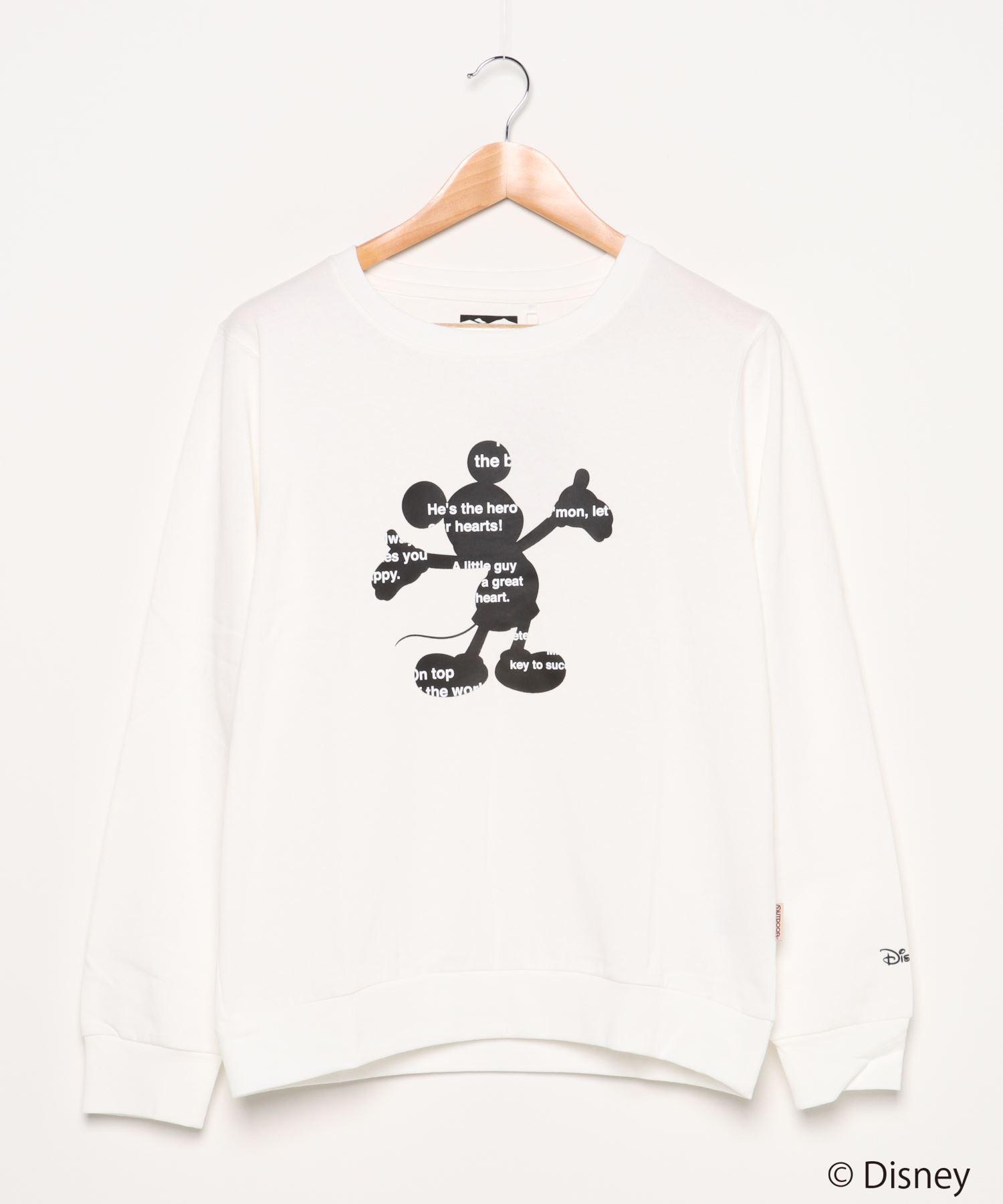 【DISNEY/ディズニー】 キャラクター刺繍 プリントロンT トレーナー