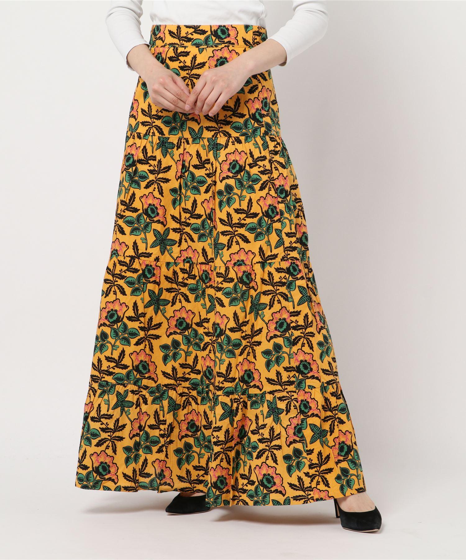 SCOTCH & SODA スコッチアンドソーダ / ボタニカル柄マキシスカート