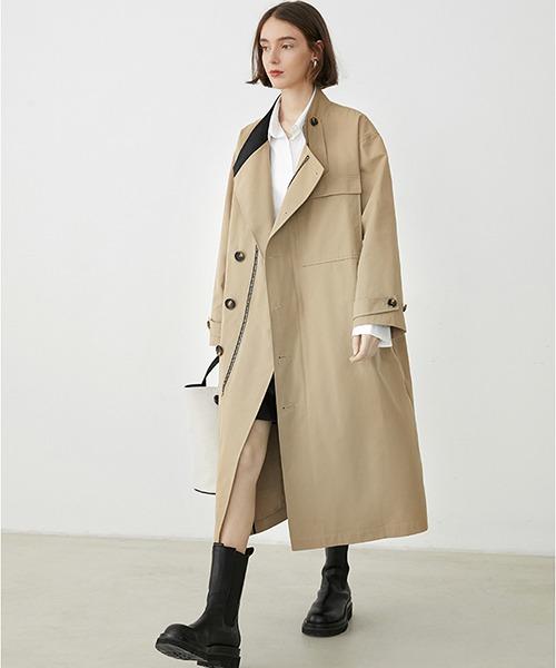 【Fano Studios】【2021SS】Oversized zip Trench coat cb-3 FQ20W059