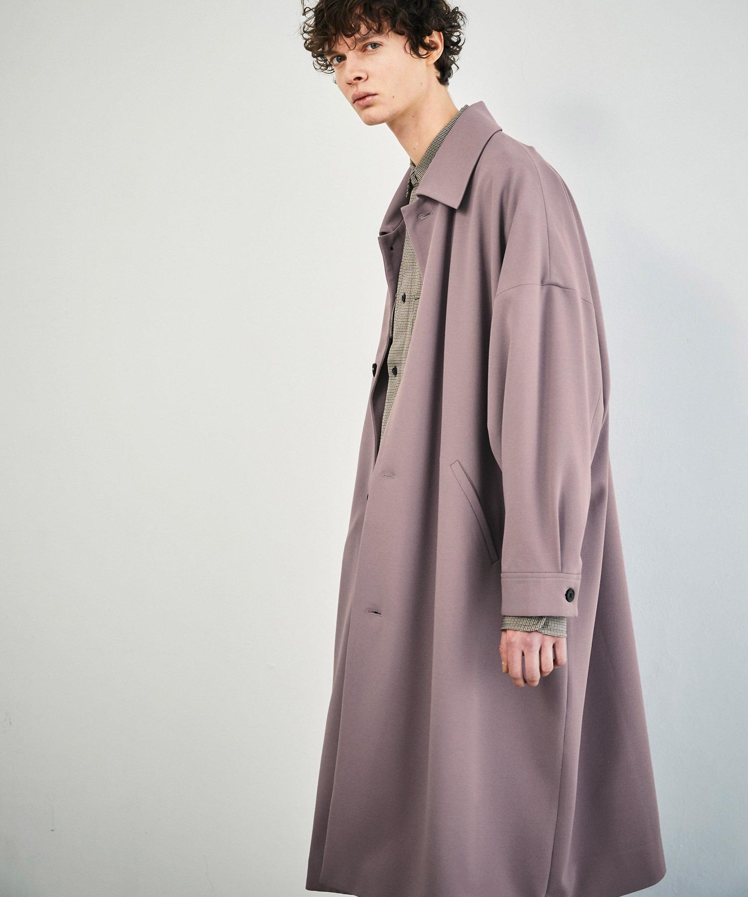 梨地ルーズリラックス オーバーサイズドルマン バルカラーコート/ステンカラーコート 2021S/S EMMA CLOTHES