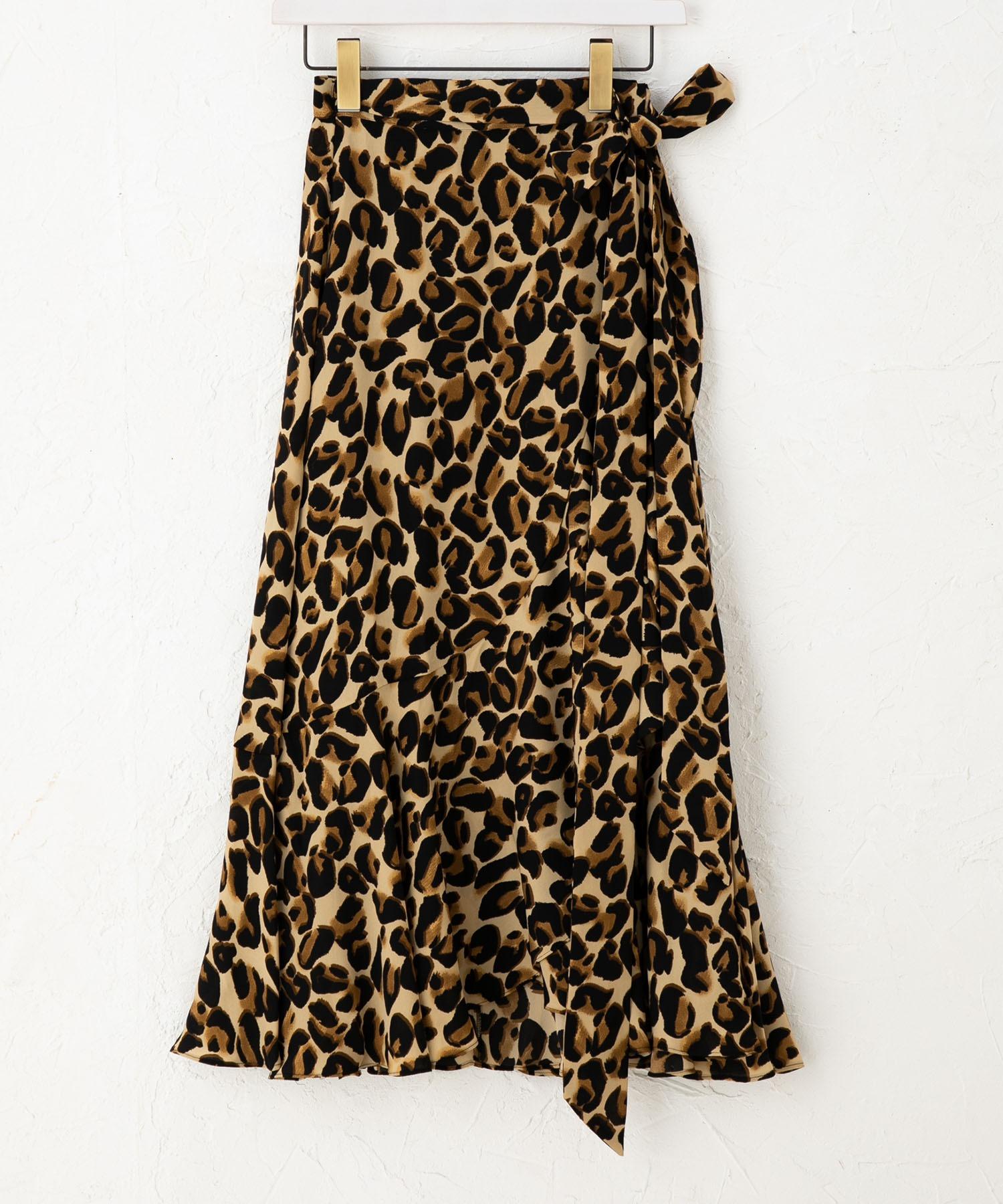 スコッチアンドソーダ SCOTCH & SODA / アニマルプリント フリルラップスカート