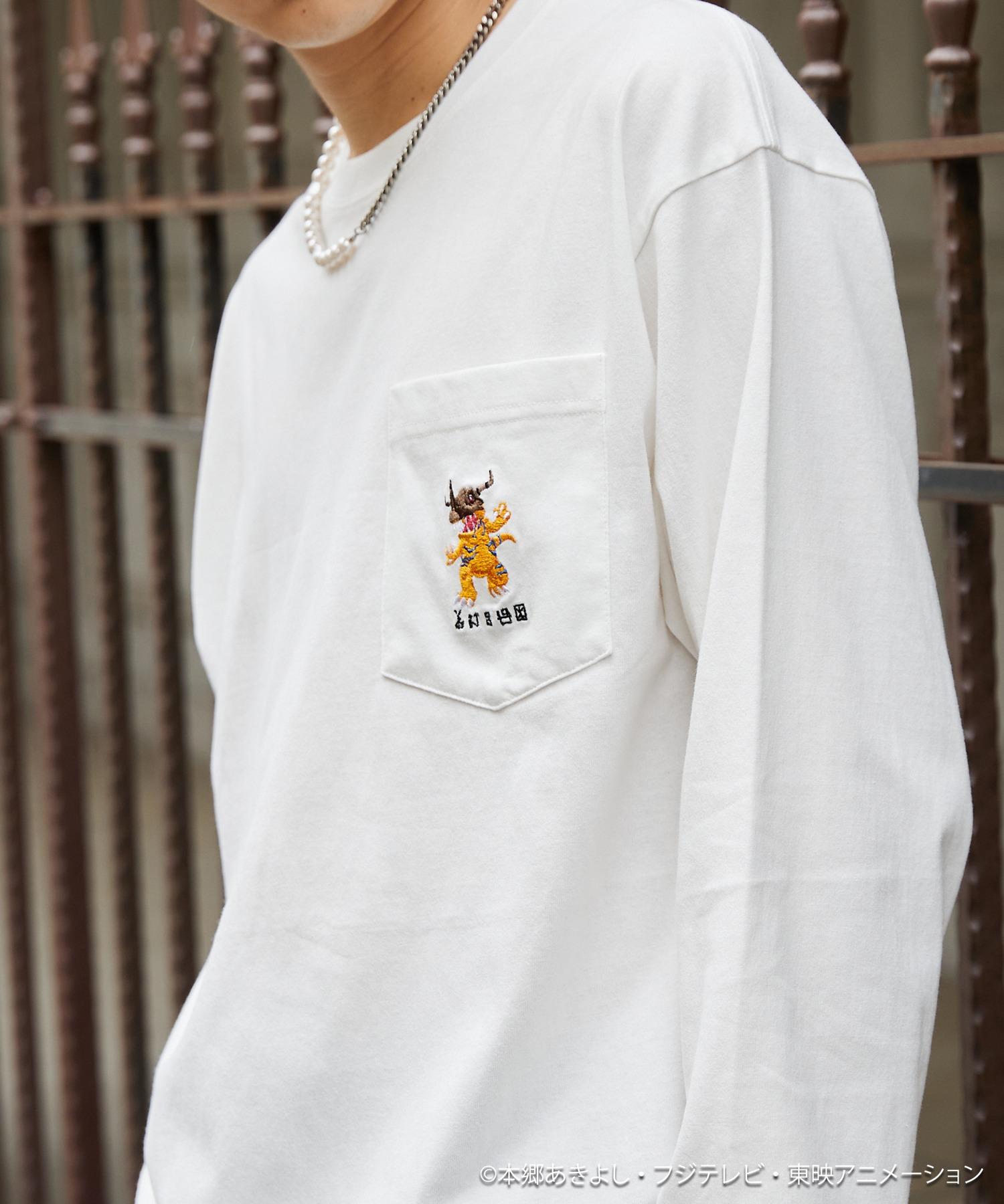 刺繍 ポケット