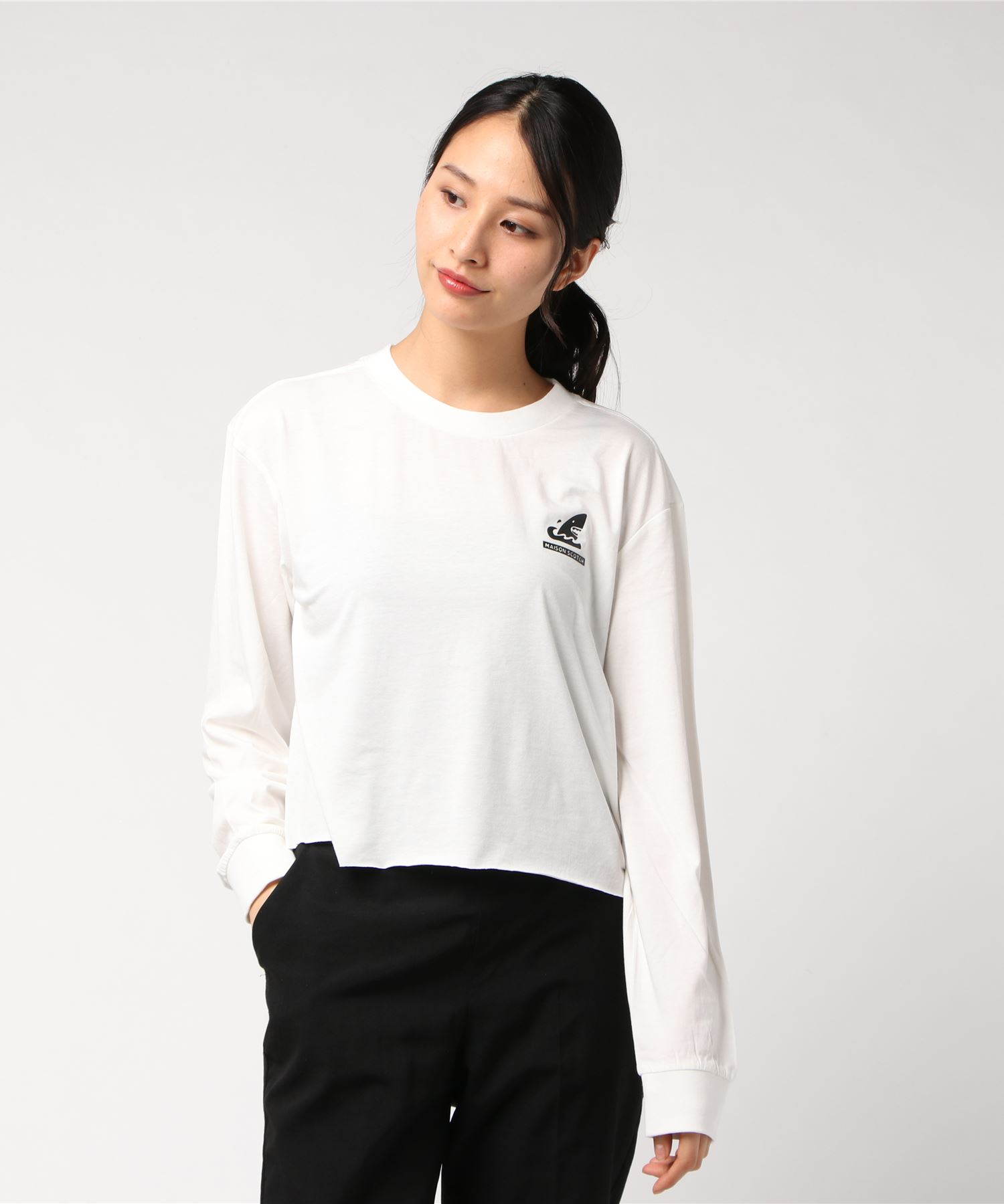 SCOTCH & SODA スコッチアンドソーダ / バックプリントプリントショート丈Tシャツ