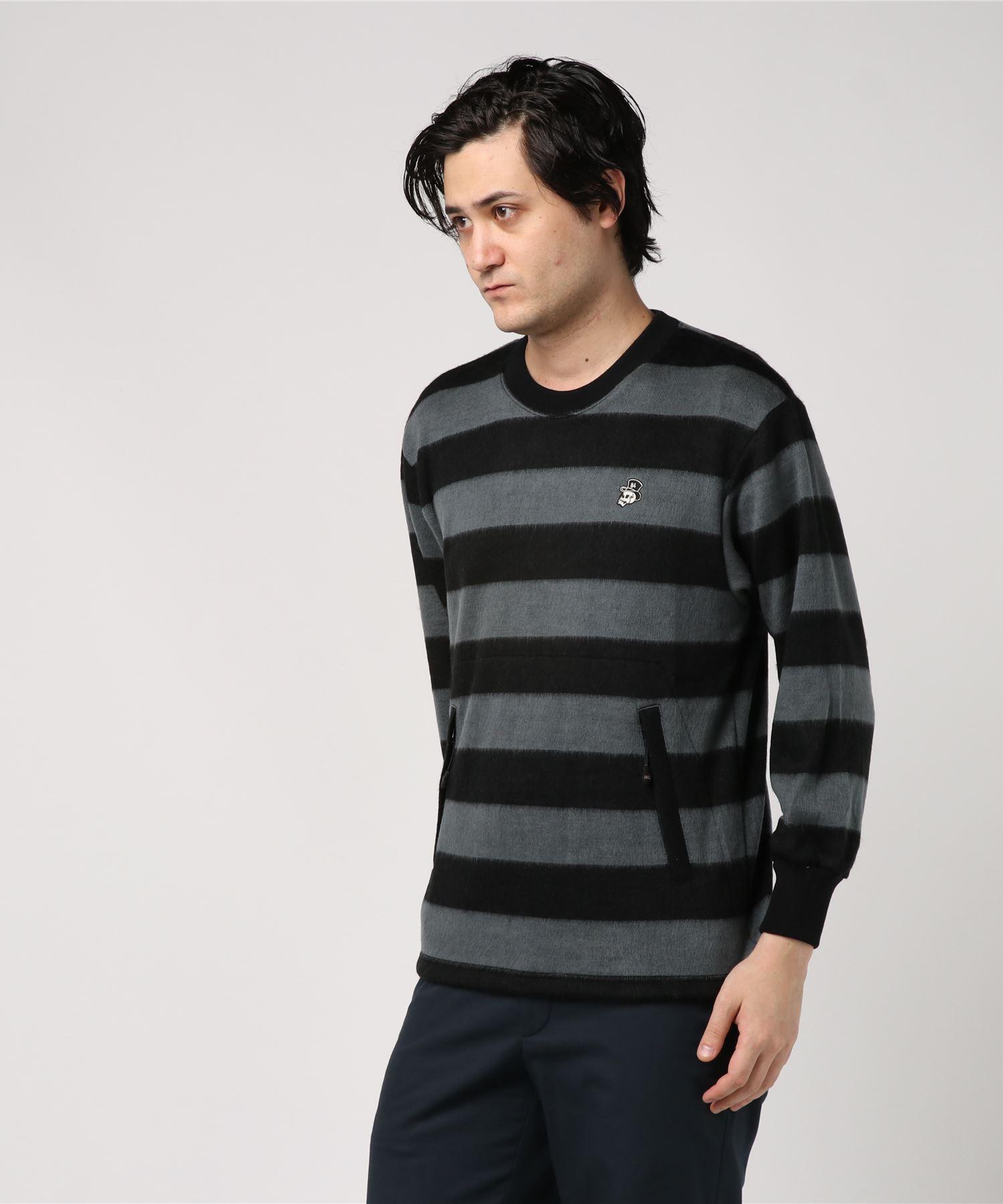 SKULL HAT 84刺繍 プルオーバーシャツ
