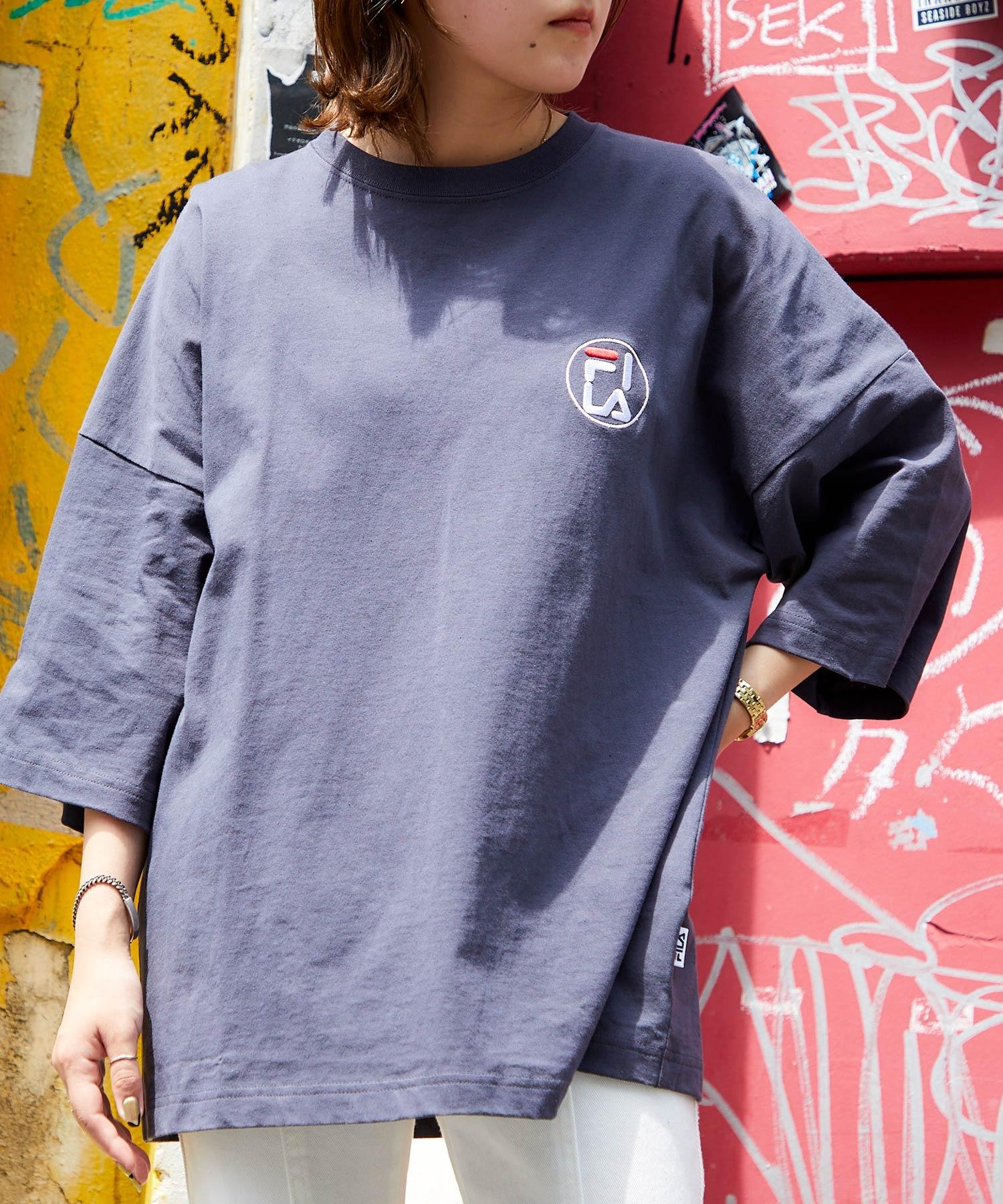 FILA/フィラ 別注 サークルロゴ刺繍 ビッグシルエット半袖カットソー