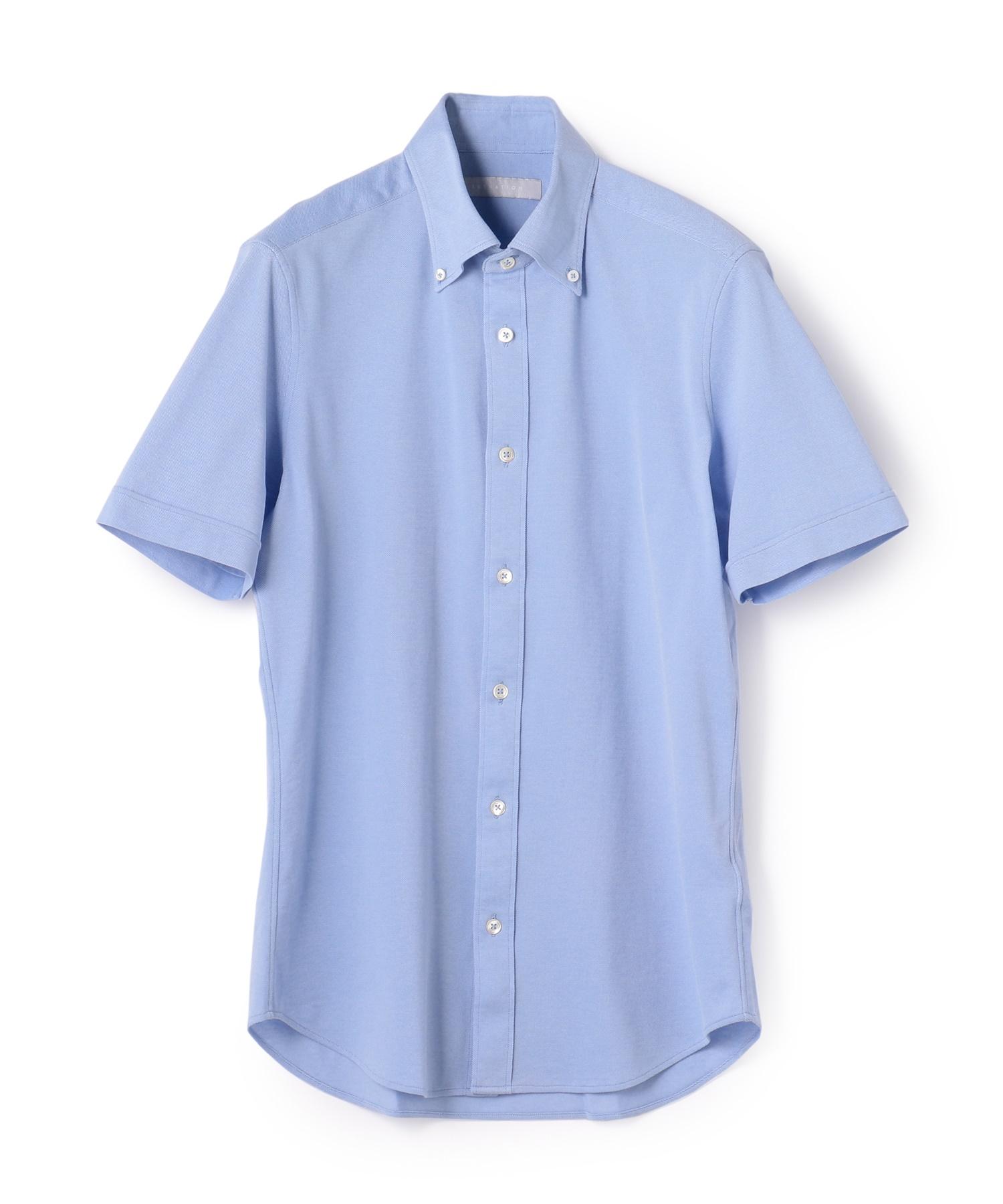 ESTNATION / 鹿の子ボタンダウン半袖シャツ