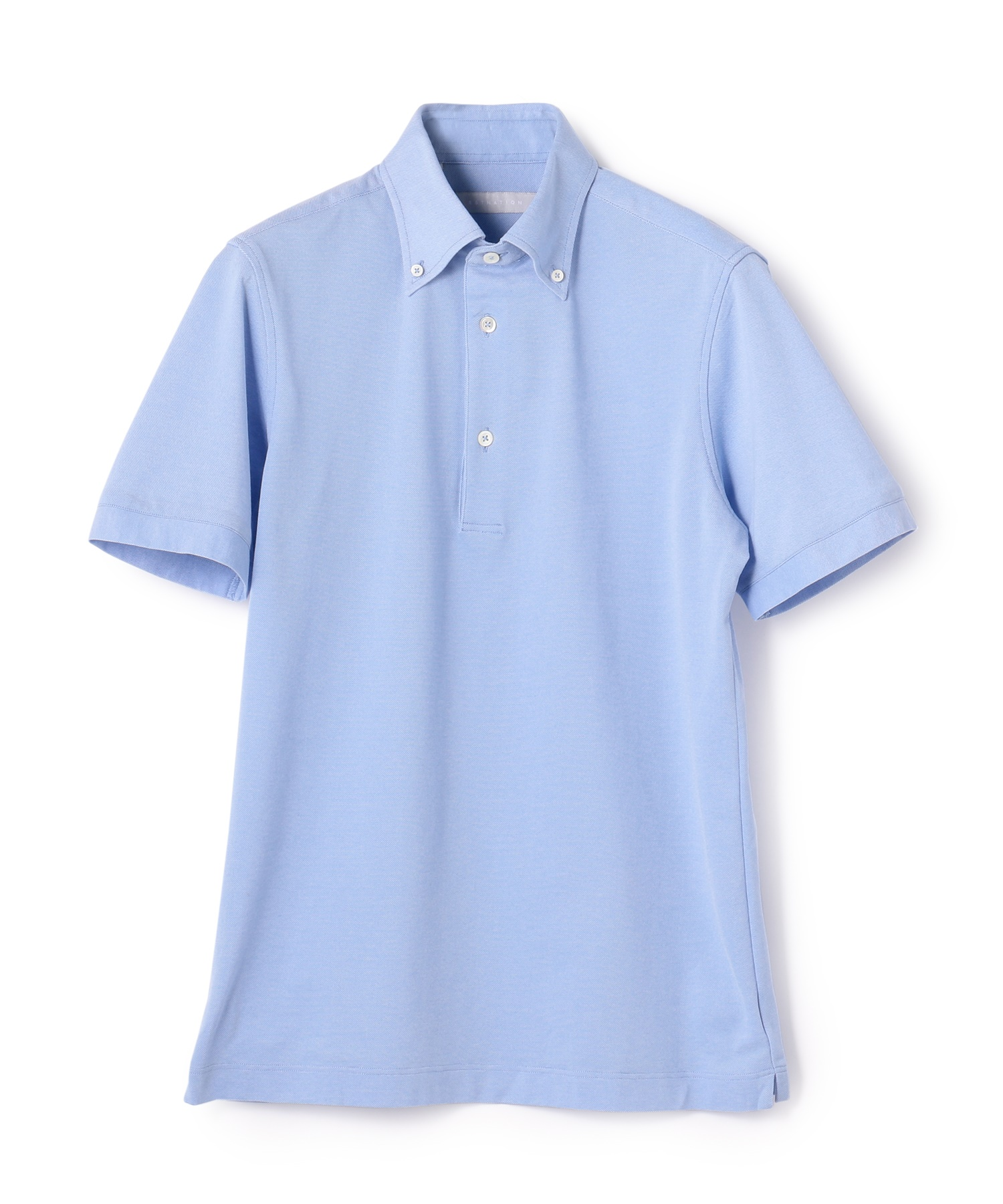 ESTNATION / 鹿の子半袖ボタンダウンポロシャツ