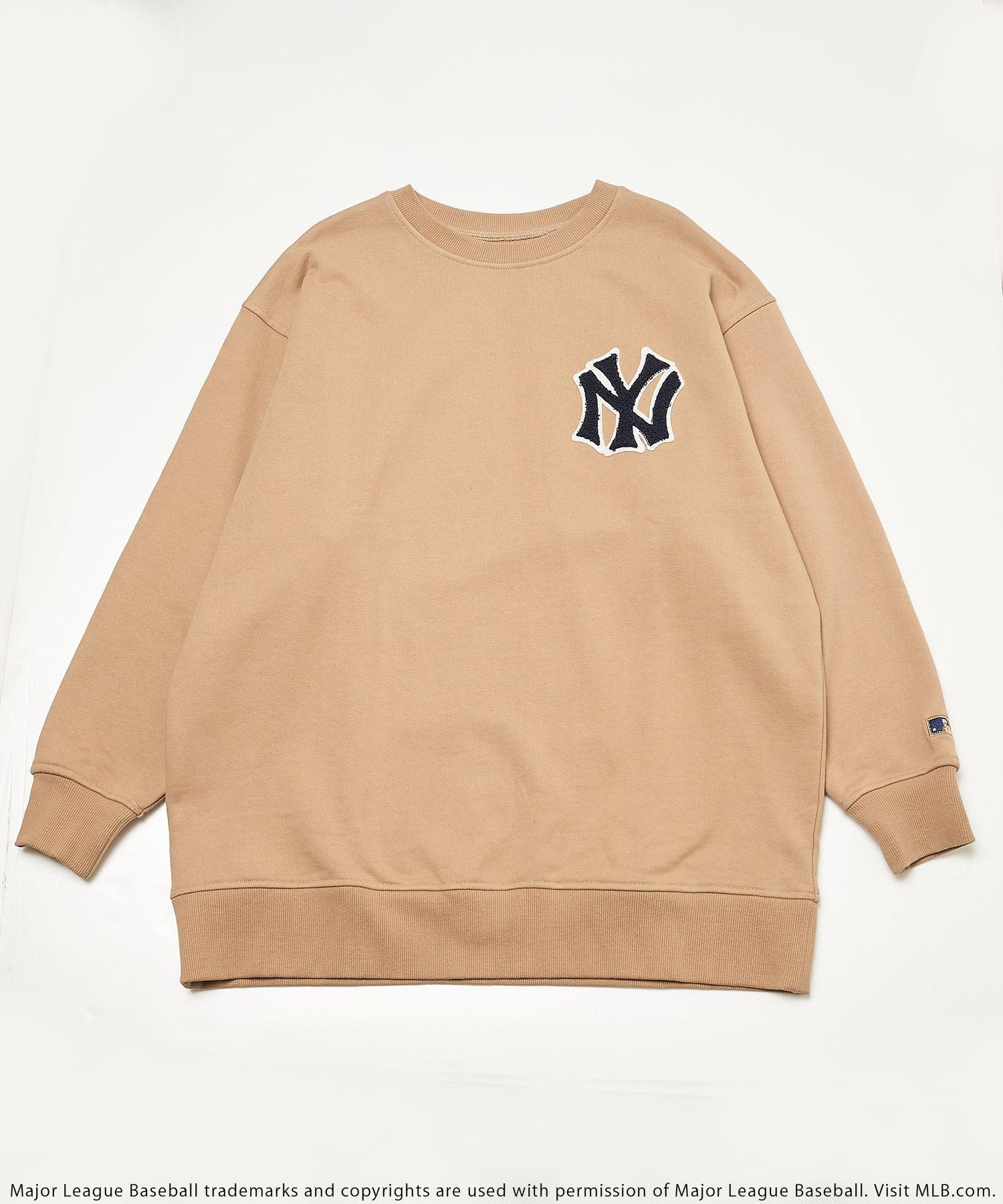 【MLB】刺繍裏毛オーバートップス
