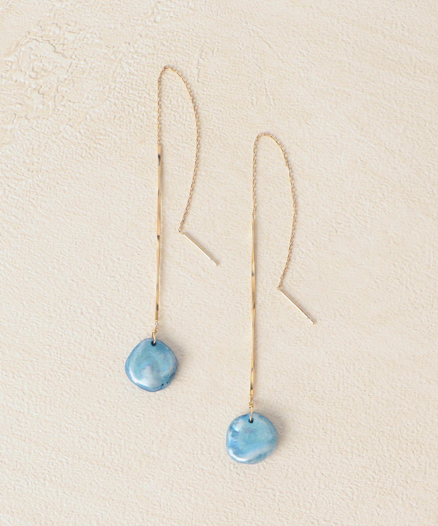 K10両耳用藍染めピアス