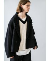 <monkey time> TW RING YARN CROPPED COAT/クロップドコート