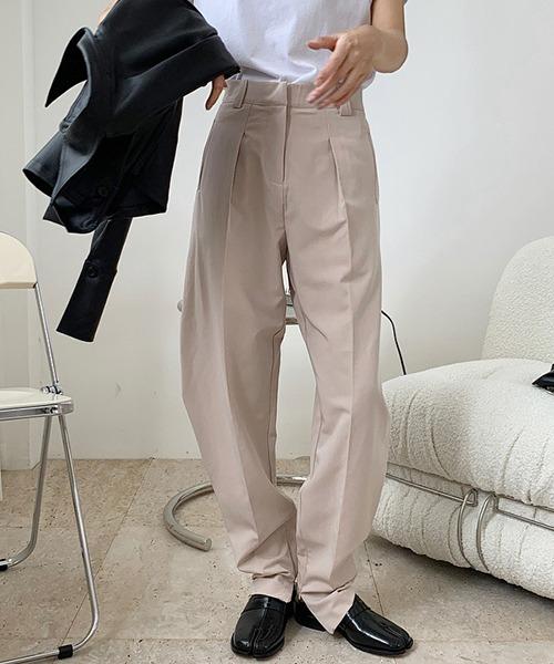 【chuclla】Ankle zipper curve slacks sb-4 chw1360