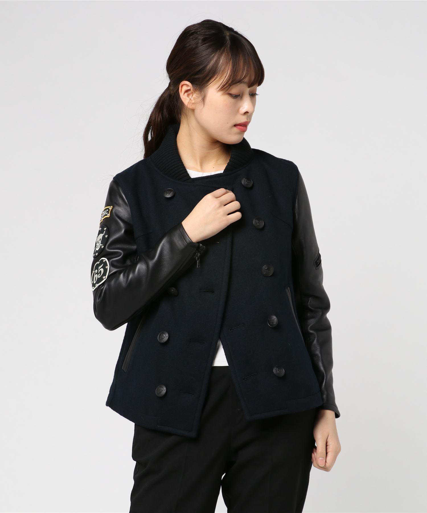 ワッペン付 ダブルブレストジャケット