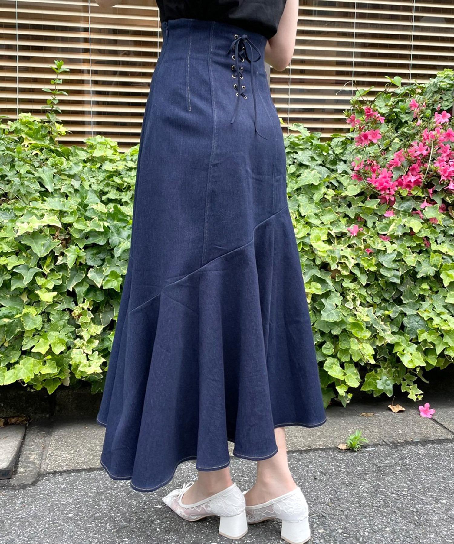 バックスピンドルマーメイドスカート