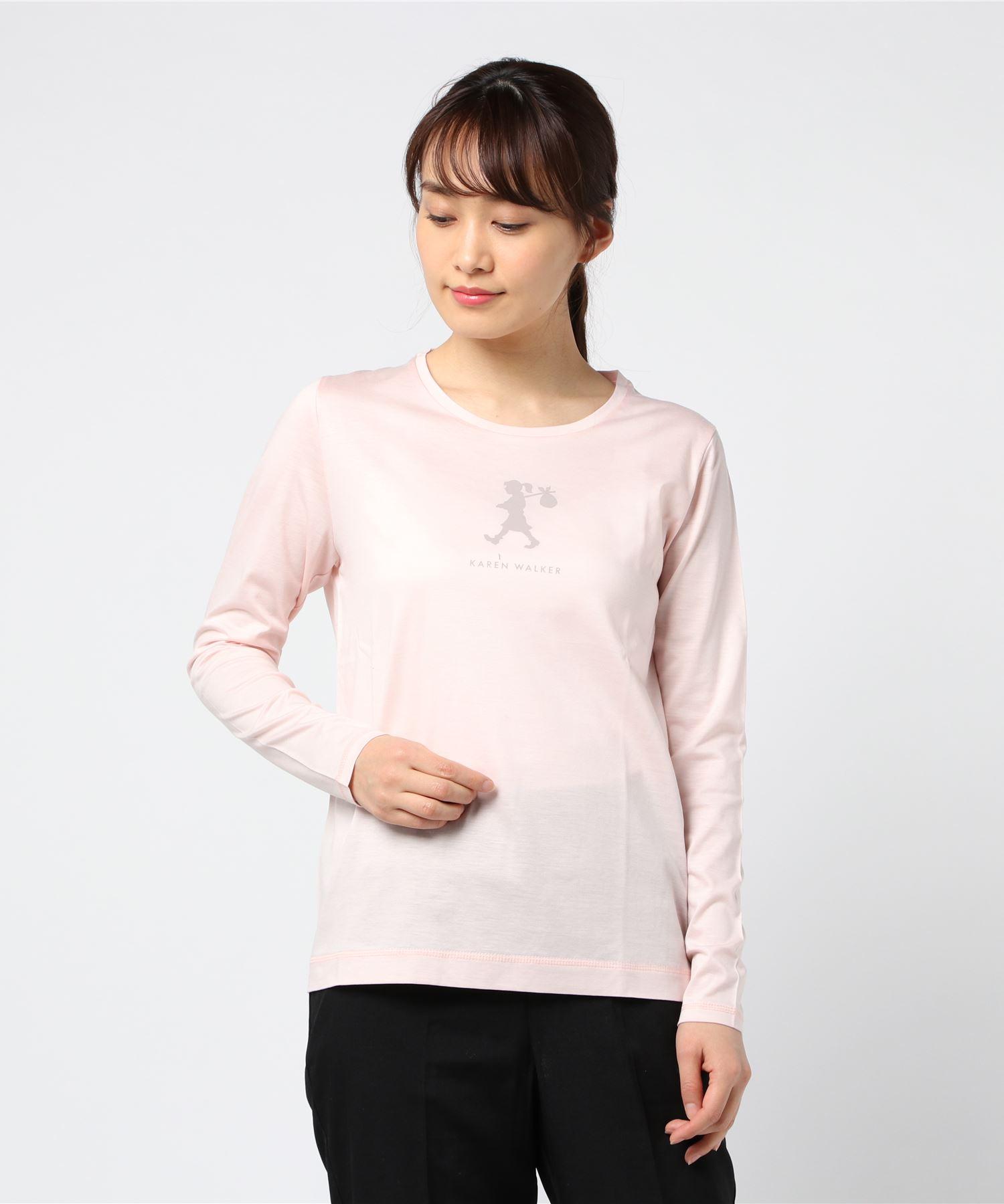 KAREN WALKER カレンウォーカー / ロゴ 長袖ティーシャツ
