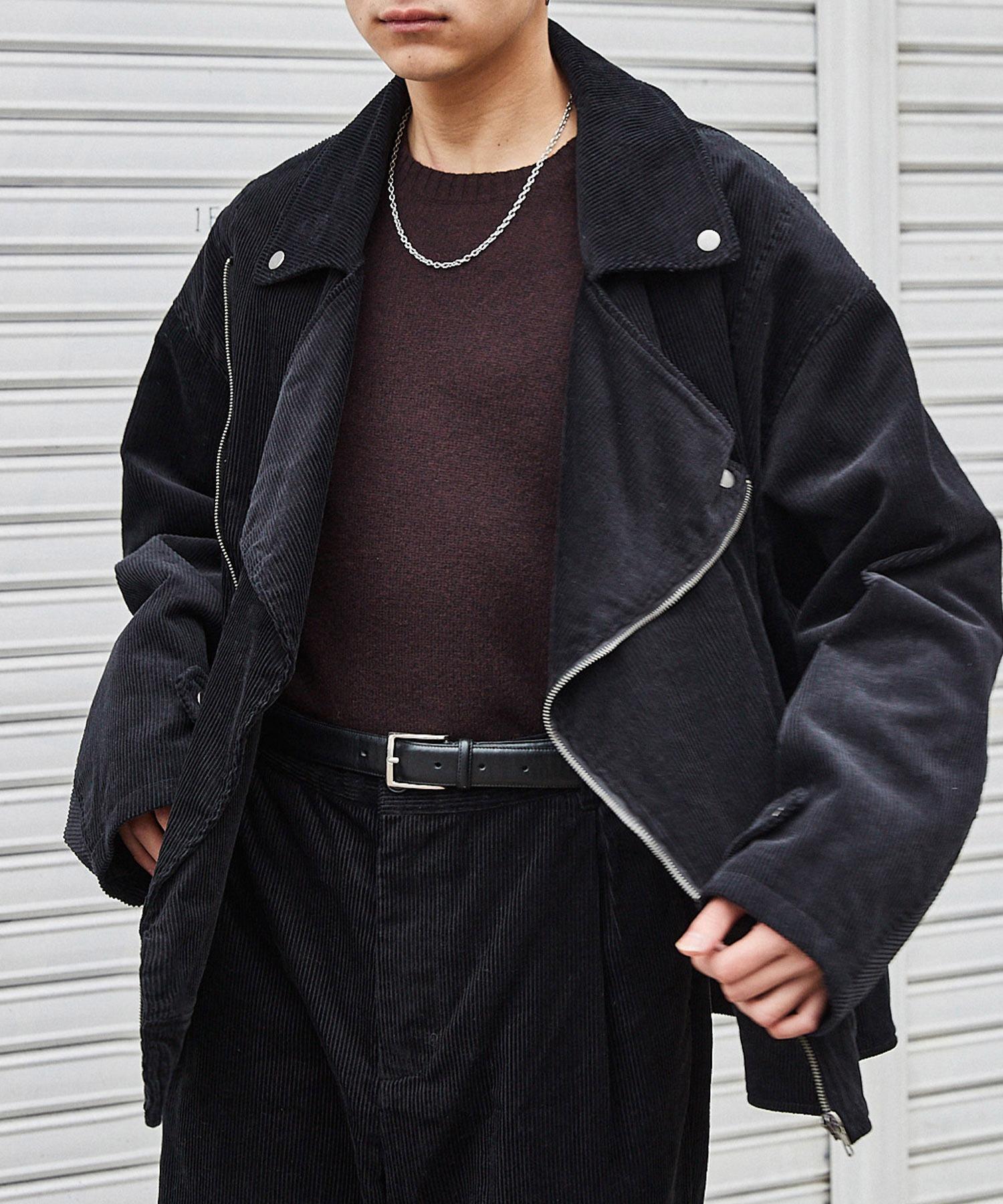 【セットアップ】ビッグシルエット コーデュロイ ダブルデザイン セットアップ (オーバーサイズダブルジャケット/パンツ)