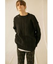 <monkey time> COTTON CABLE DISTRESSED CN/ニット