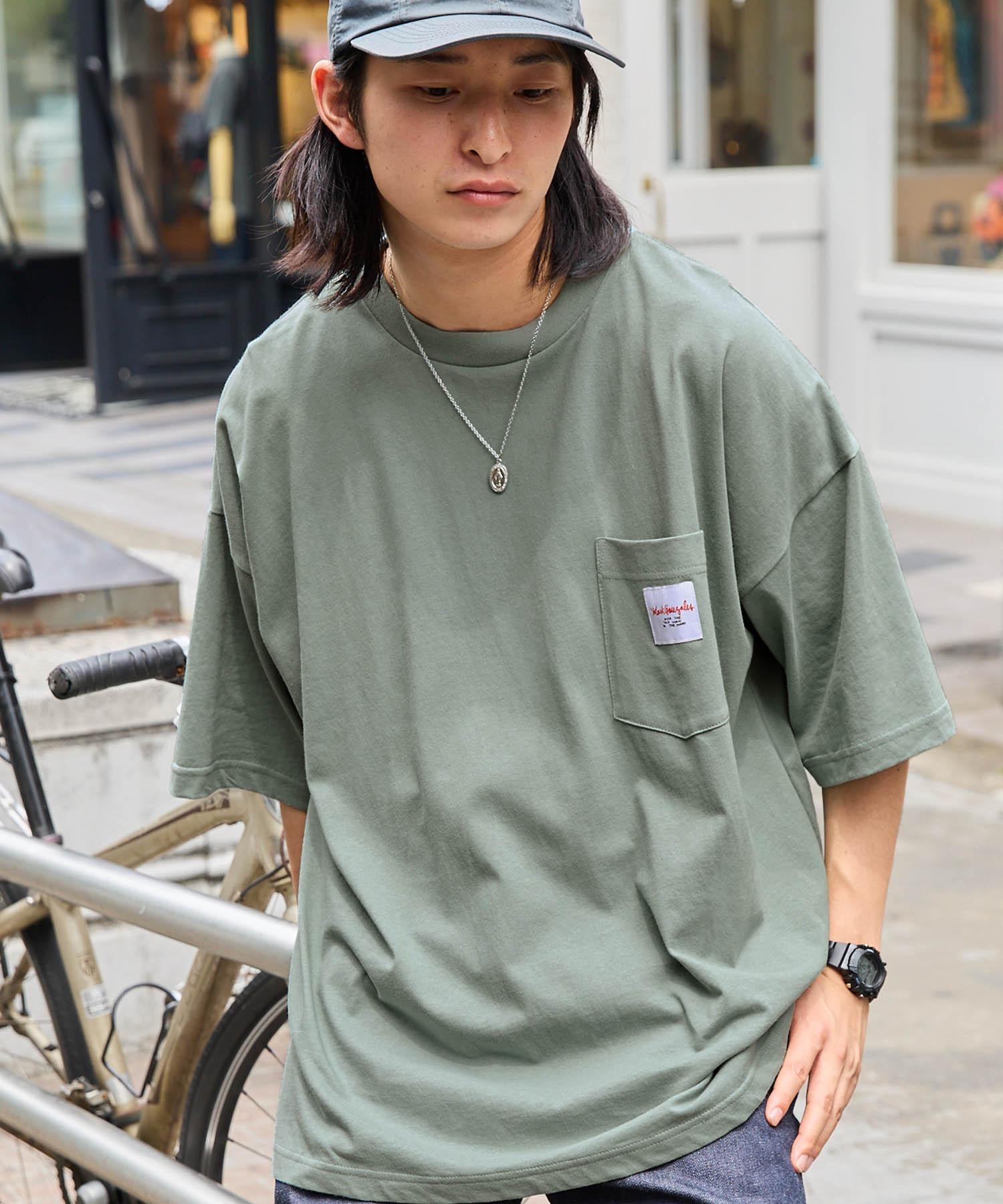 Mark Gonzales/マークゴンザレス MONO-MART別注 ビッグシルエット胸刺繍 半袖Tee