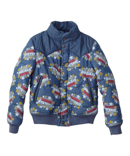 SUPER HYSTERIC柄 デニムスキージャケット