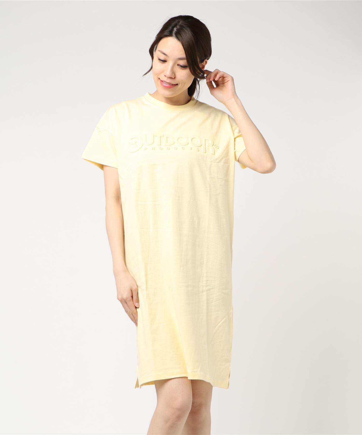 エンボスロゴTワンピース/Tシャツ ワンピース