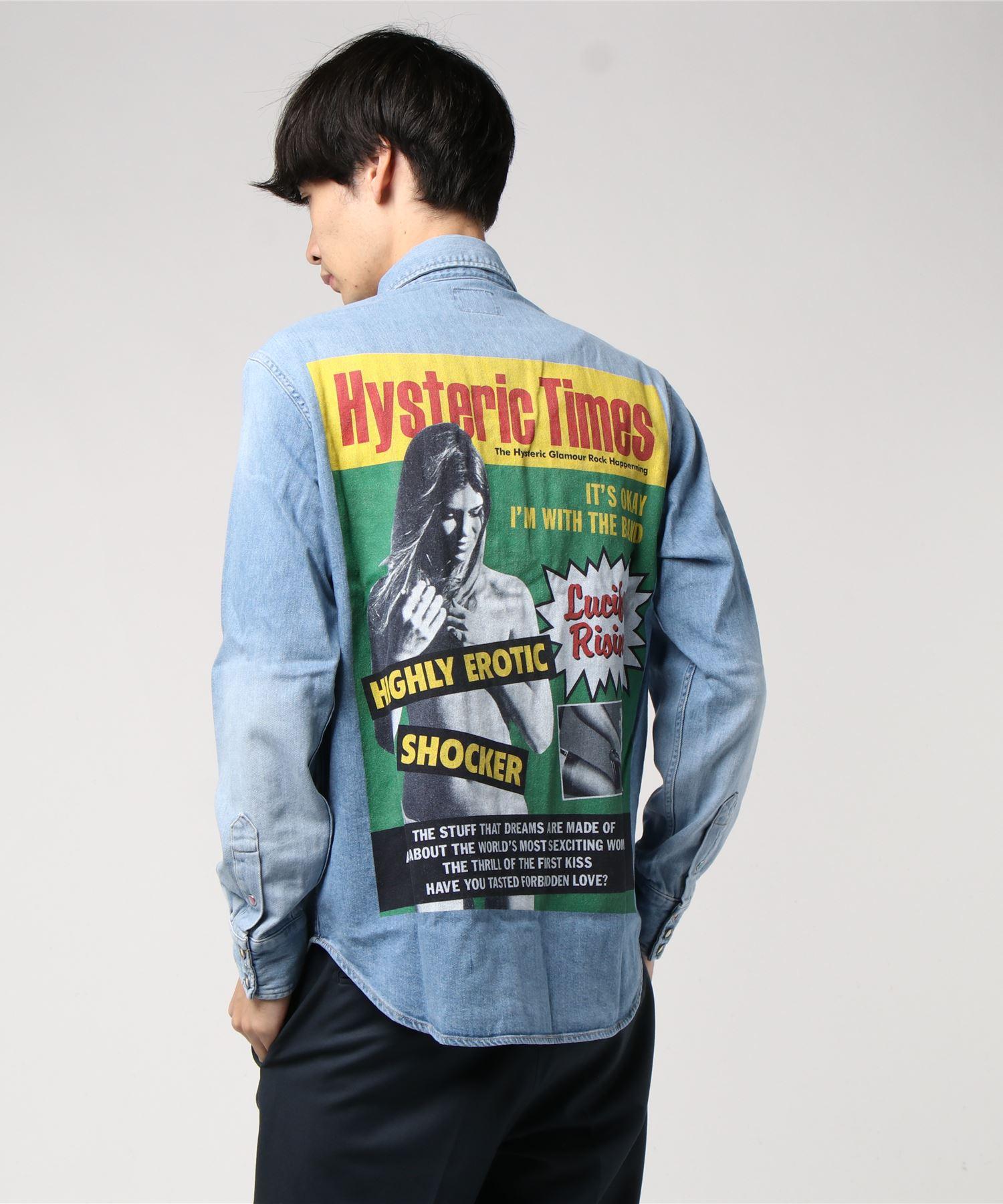 HYSTERIC TIMES デニム長袖ウエスタンシャツ